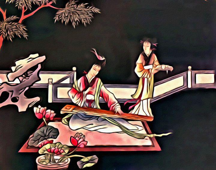 Asian Beauty - Prints by Michel