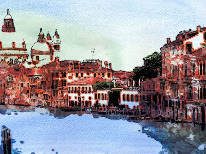 Quaint Water Scene - Prints by Michel