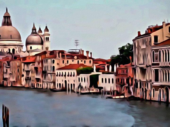 Romantic Venice Scene - Prints by Michel