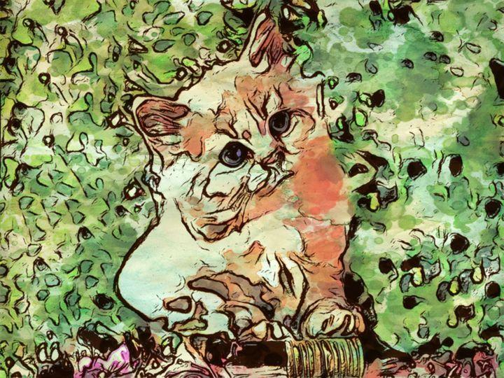 """""""Kitten in the Bush"""" - Prints by Michel"""