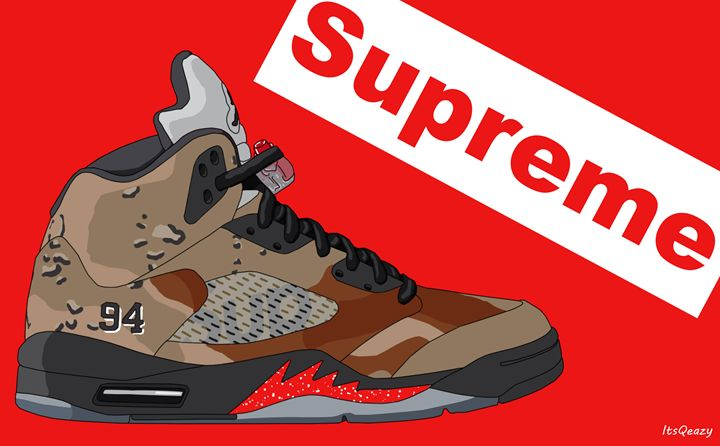 another chance 100% authentic designer fashion Air Jordan V Supreme Desert Camo - Prints - Paintings ...