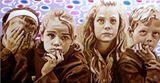 portraits d'enfants médusés