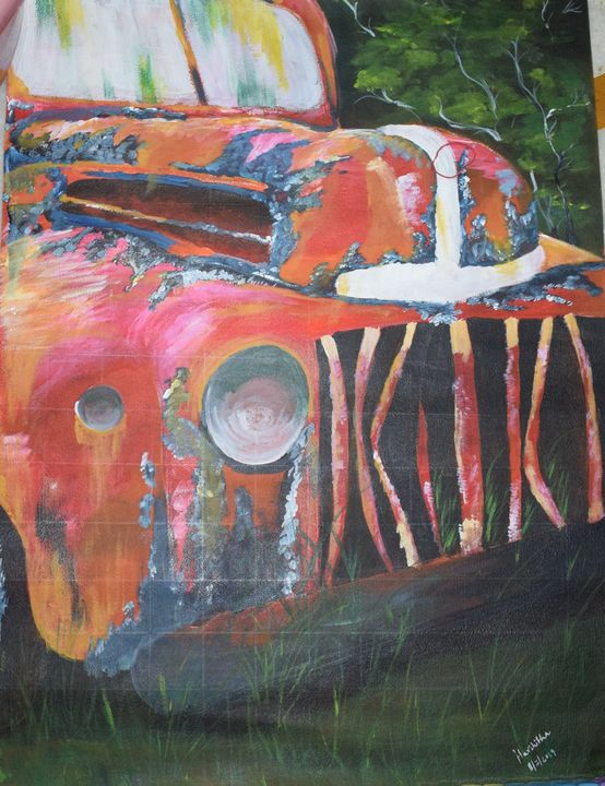 Vintage Car Painting - Harshitha