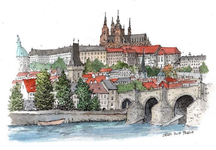 Prague Sketch - Rob Carey Art