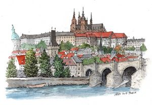 Prague Sketch - Rob Carey Art
