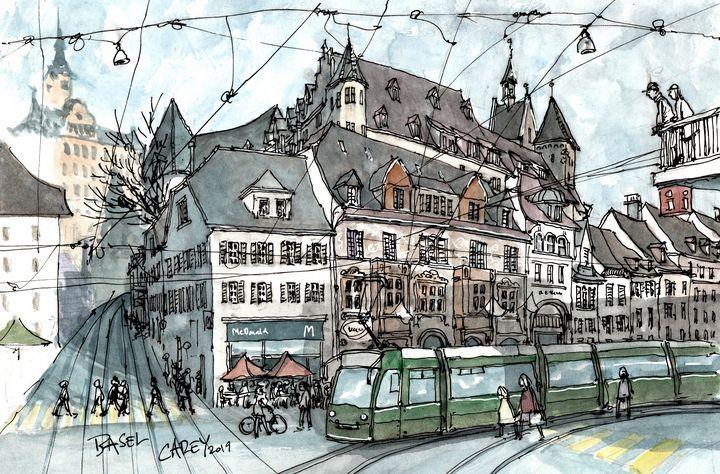 Barfüsserplatz Basel Switzerland - Rob Carey Art