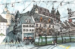 Barfüsserplatz Basel Switzerland - Rob Carey Art