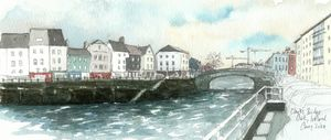 Clarke's Bridge - Cork, Ireland - Rob Carey Art