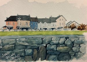Galway, Ireland Watercolor - Rob Carey Art
