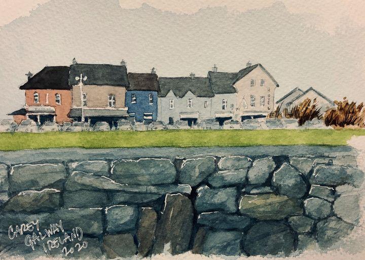 Galway, Ireland Watercolor - Rob Carey Art