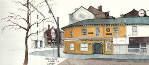 Popes Quay - Cork, Ireland Sketch - Rob Carey Art