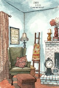 The Corner Chair in our Home - Rob Carey Art
