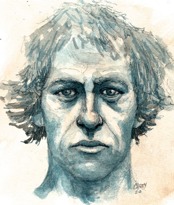 Mark Knopfler Sketch - Rob Carey Art