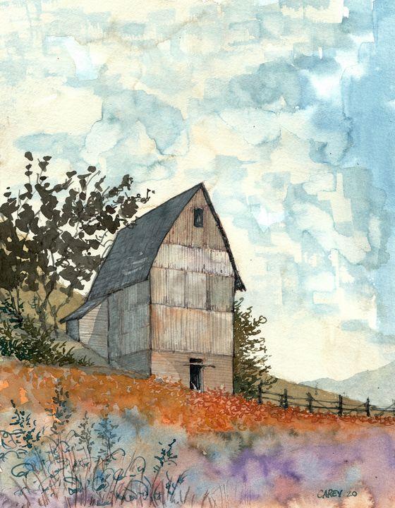Tall Barn - Rob Carey Art
