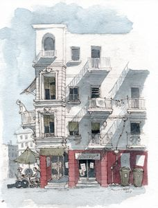 Spain Watercolor Sketch - Rob Carey Art