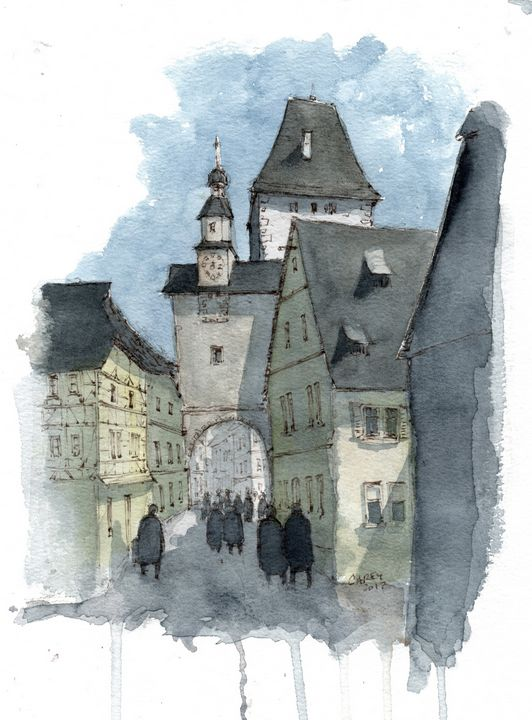Rothenburg Germany - Rob Carey Art