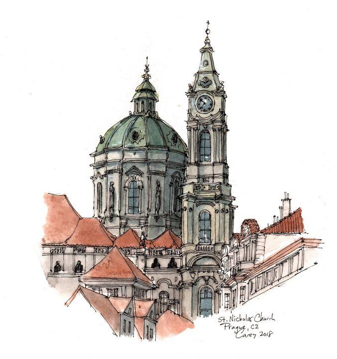 St. Nicholas Church Prague - Rob Carey Art