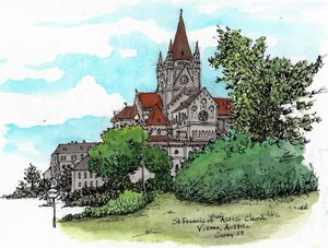 St. Francis of Assisi Church Vienna - Rob Carey Art