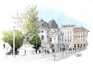 Vienna Sketch - Rob Carey Art