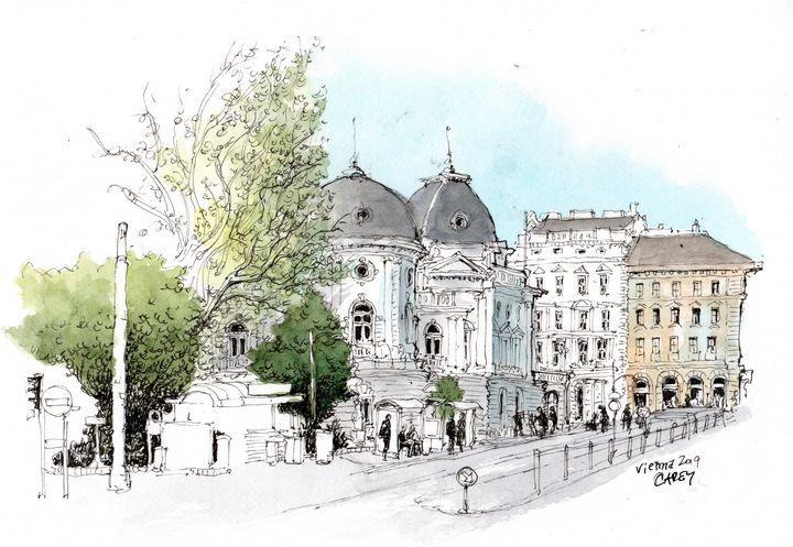 Vienna Sketch - Rob Carey Art