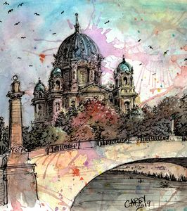 Berlin Watercolor - Rob Carey Art