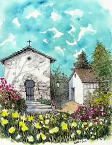 Spanish Garden - Rob Carey Art