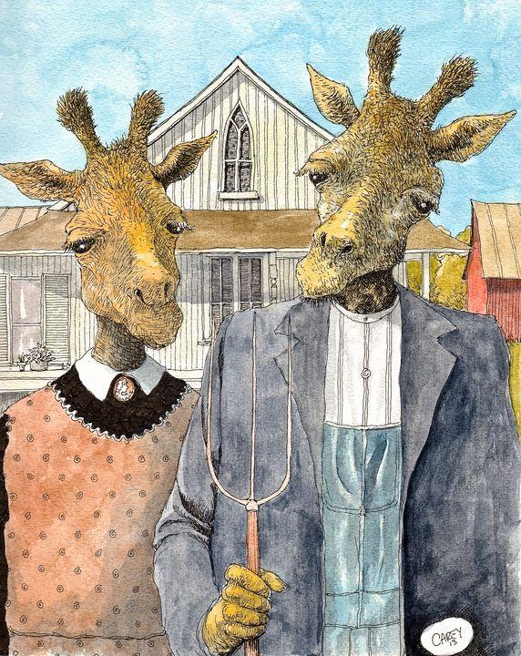 American Giraffic - Rob Carey Art