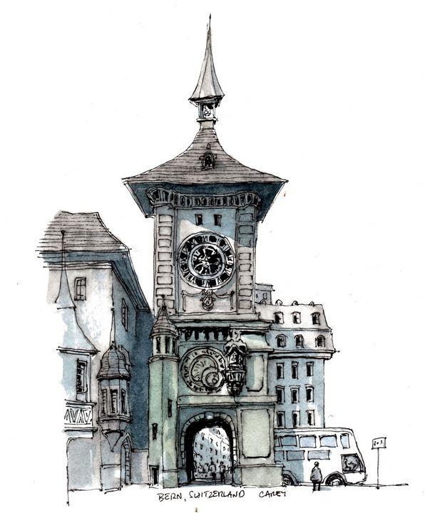 Bern Switzerland - Rob Carey Art