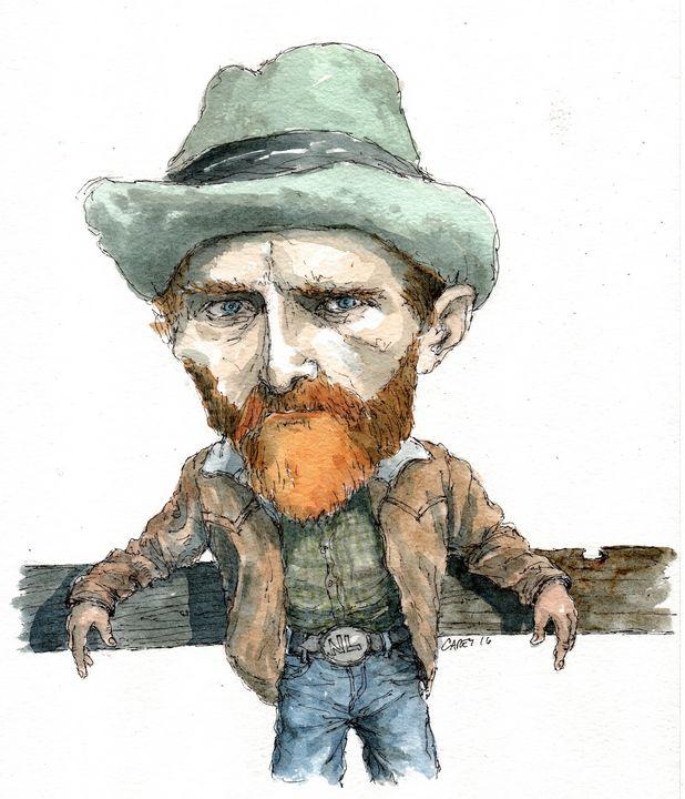 Van Gogh Cowboy - Rob Carey Art