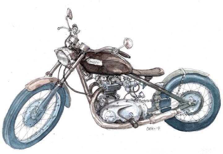 Triumph Motorcycle - Rob Carey Art
