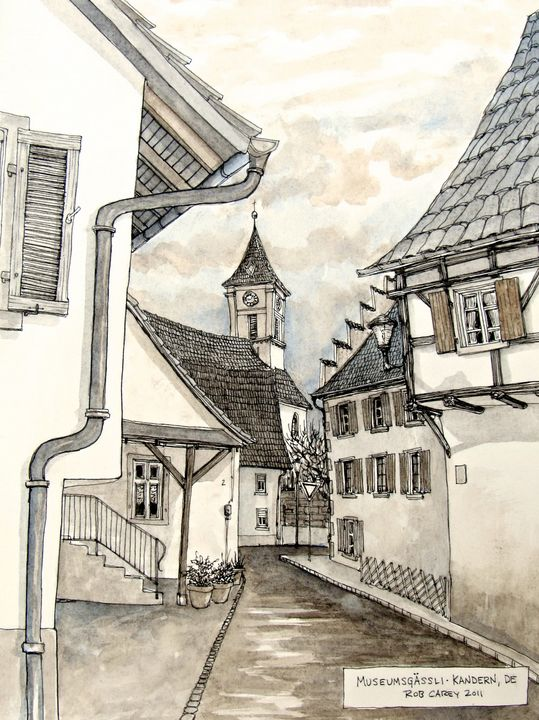 Kandern Germany Museumsgaessli - Rob Carey Art