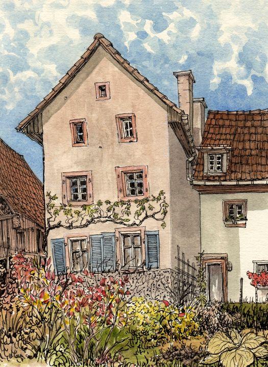 Wollbach Farmhouse - Rob Carey Art