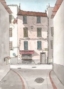 Alley in France - Rob Carey Art