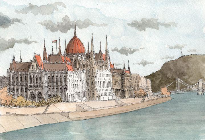 Budapest Hungary - Rob Carey Art