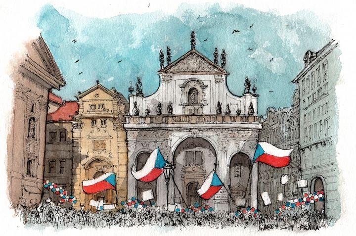 Prague Parade - Rob Carey Art