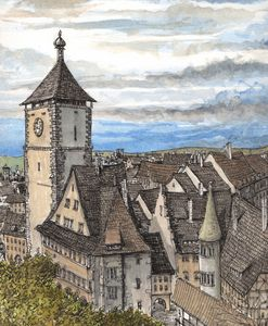 Freiburg im Breisgau Germany - Rob Carey Art