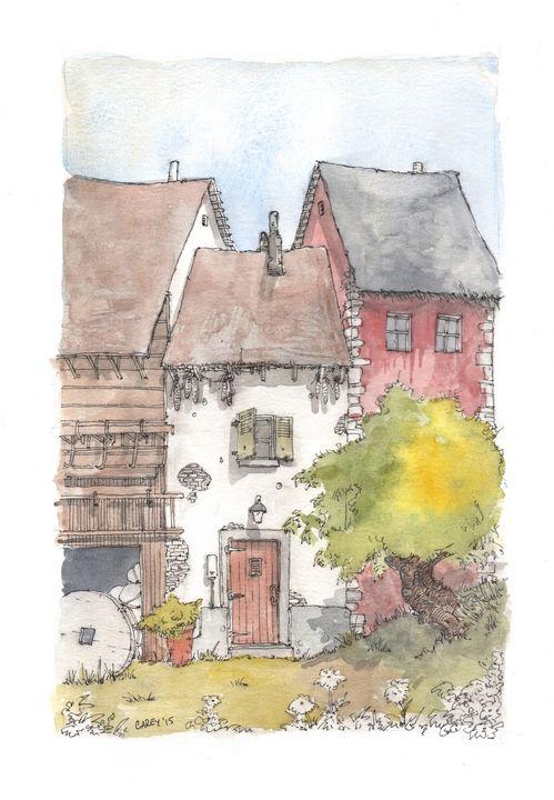 Small Farmhouse - Rob Carey Art