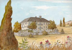 a French Chateau - Rob Carey Art