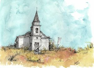 Old Church - Rob Carey Art