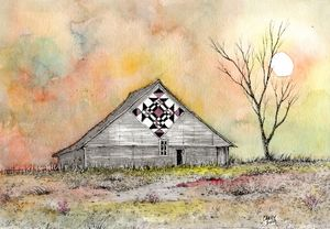 Hot Summer Barn - Rob Carey Art