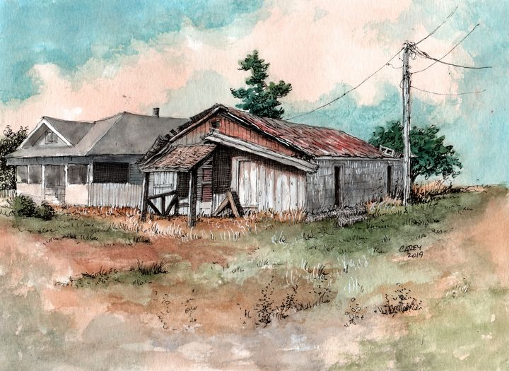 Old Clovis Barn - Rob Carey Art