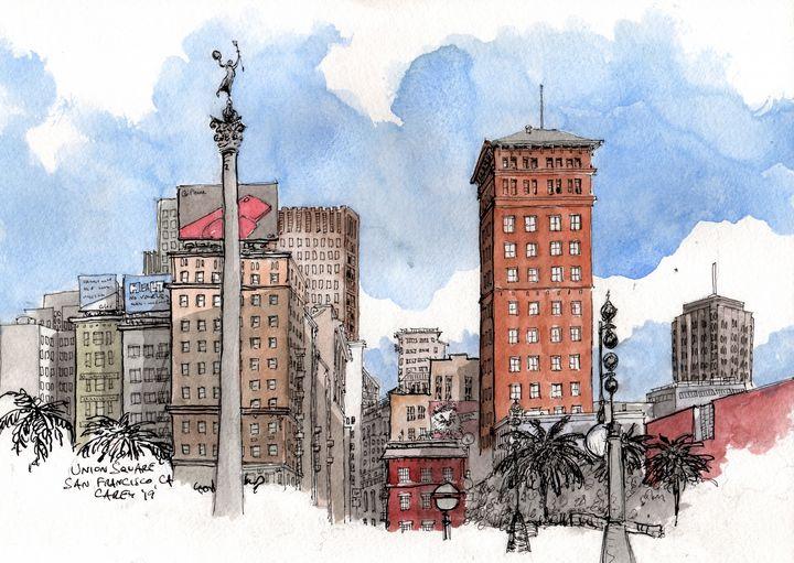 Union Square San Francisco - Rob Carey Art