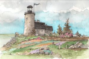 Lighthouse Sketch - Rob Carey Art