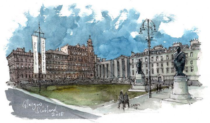 Glasgow Scotland - Rob Carey Art