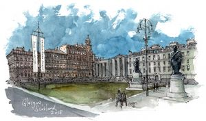 Glasgow Scotland - Rob Carey Art