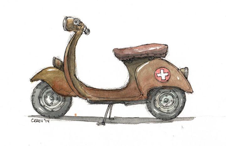 Swiss Vespa - Rob Carey Art