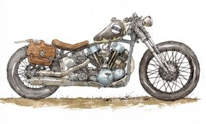Custom Motorcycle - Rob Carey Art