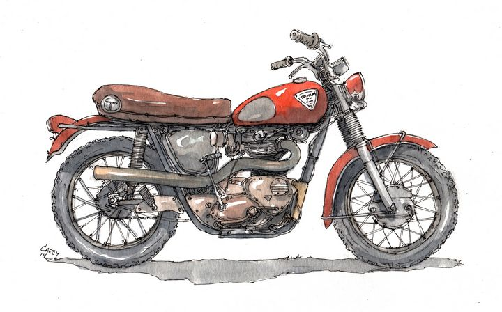 Red Triumph - Rob Carey Art