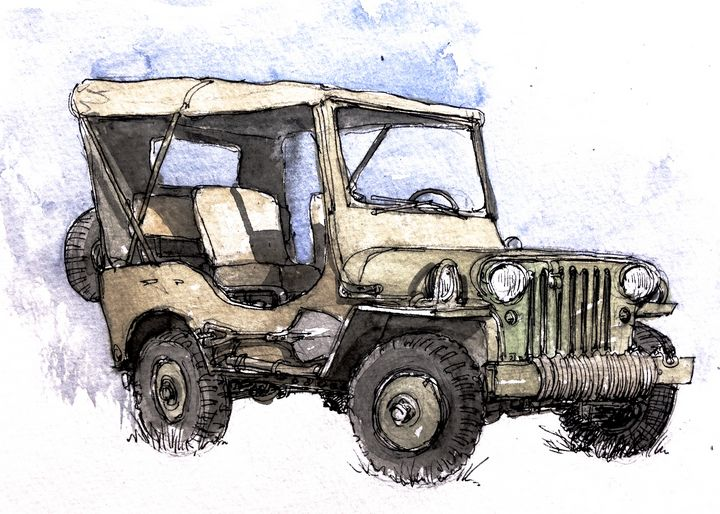 US Army Jeep - Rob Carey Art
