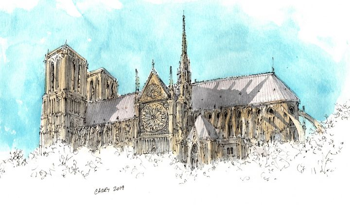Notre Dame - Rob Carey Art